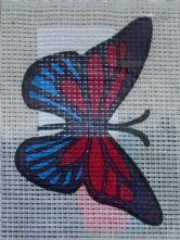 Purple Butterfly Printed 6 Count Binca Cross Stitch Kit